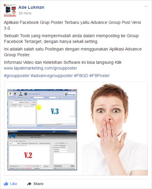 auto post group facebook 2017
