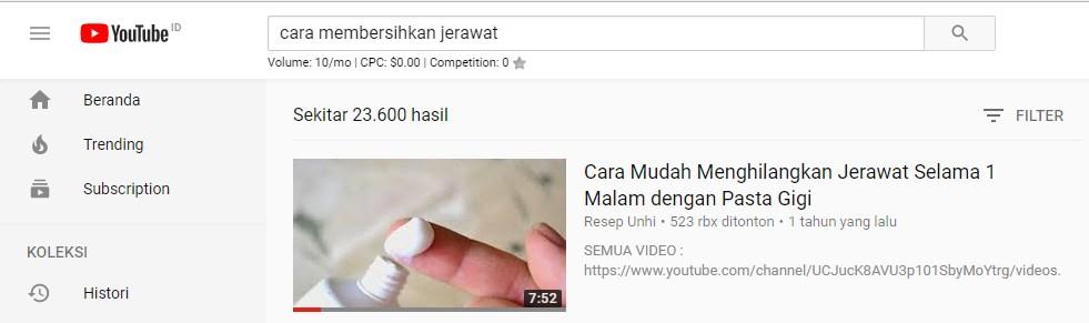 cara mengetahui tag youtube orang