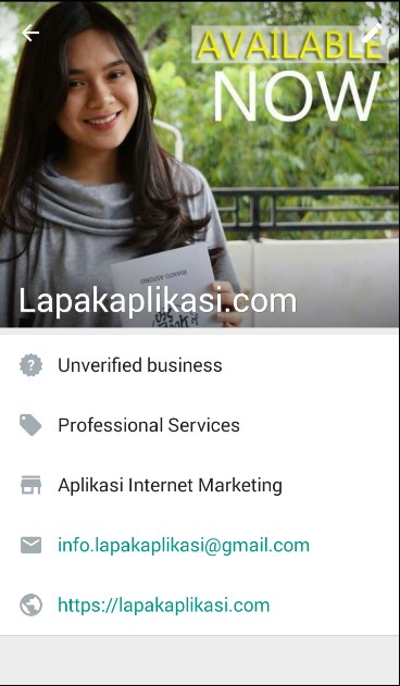 profile whatsapp bisnis