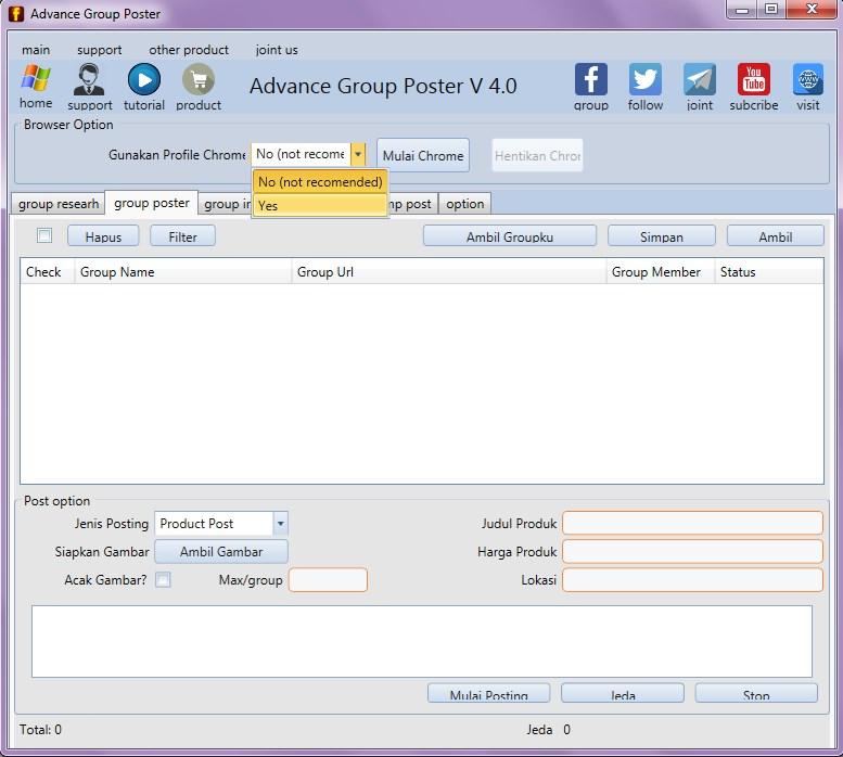 Software Auto Post Grup Facebook