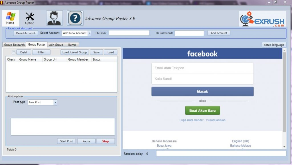 aplikasi multi posting all group facebook