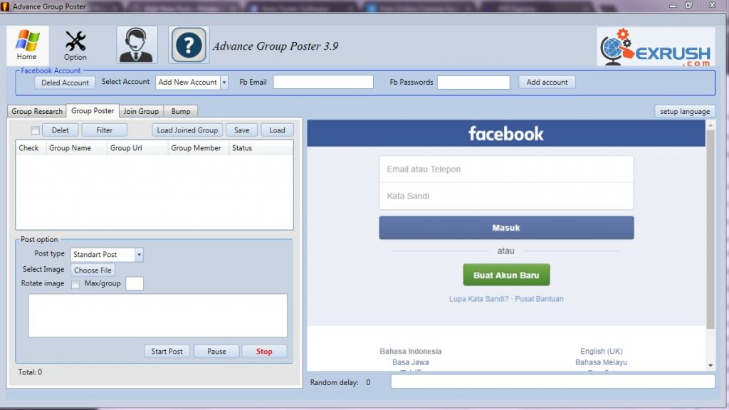 software auto post grup facebook 2018