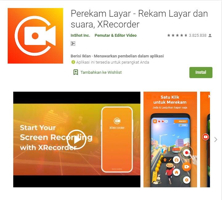 aplikasi perekam layar android seperti iphone