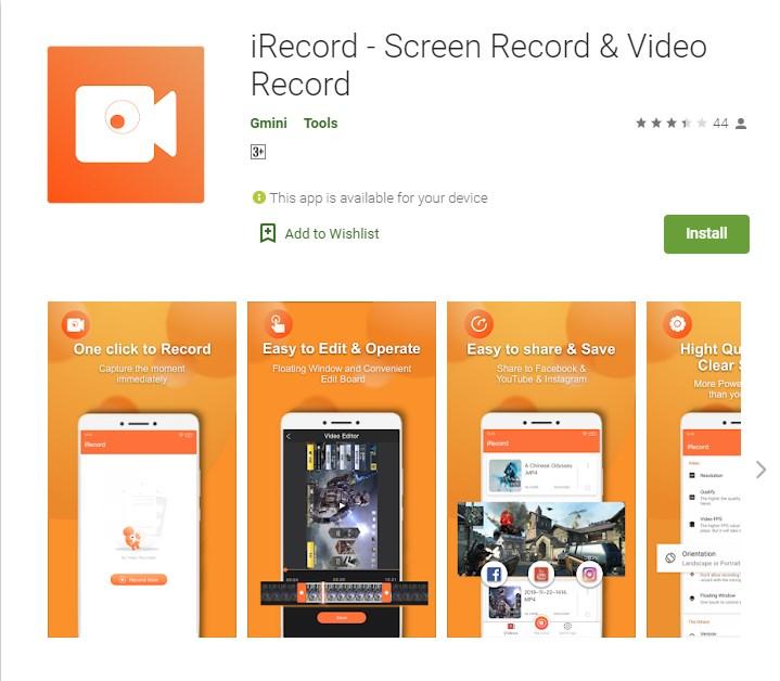 aplikasi perekam layar android yang bisa merekam suara internal