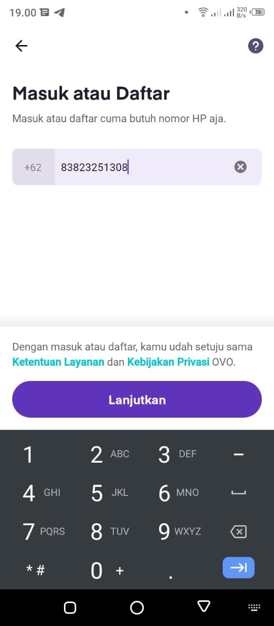 cara registrasi aplikasi ovo prakerja